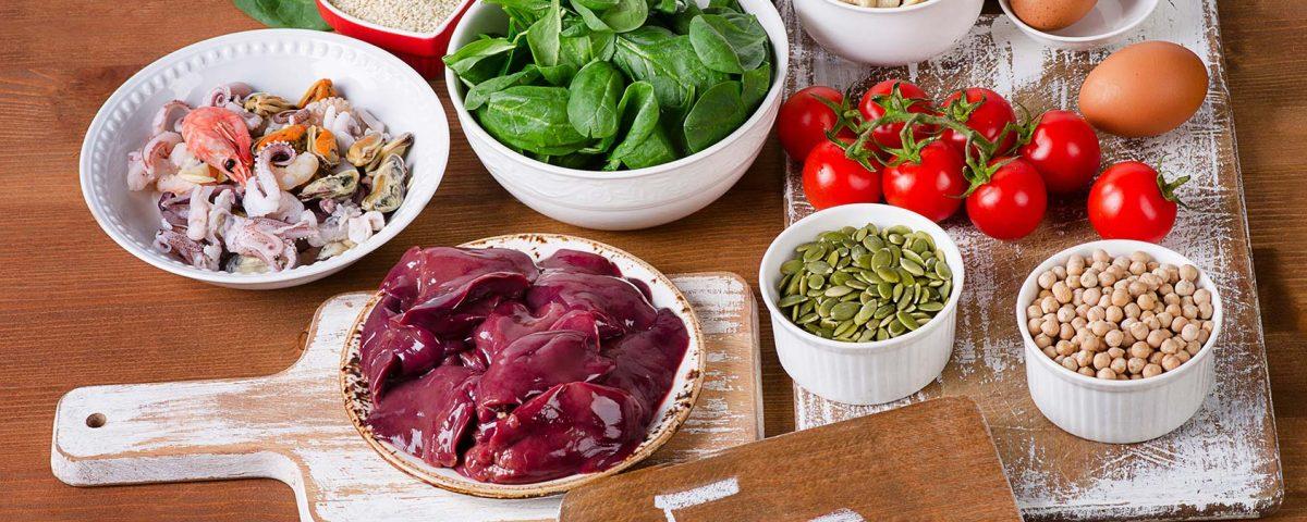 Lebensmittel gegen Eisenmangel